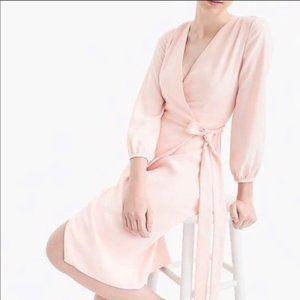 J. Crew Pink Wrap Dress NWT Size 8